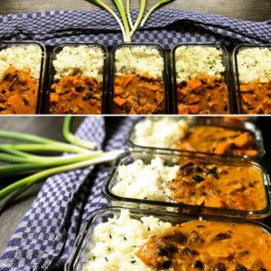 Curry Meal Prep Vorbereitung